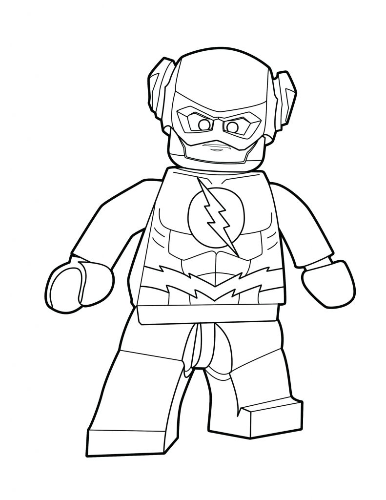 dc flash coloring pages - photo#39