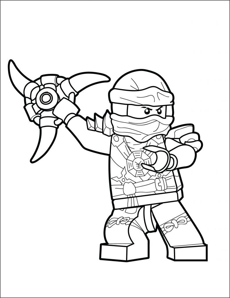 LEGO Ninjago Coloring Page Jay The Brick Show