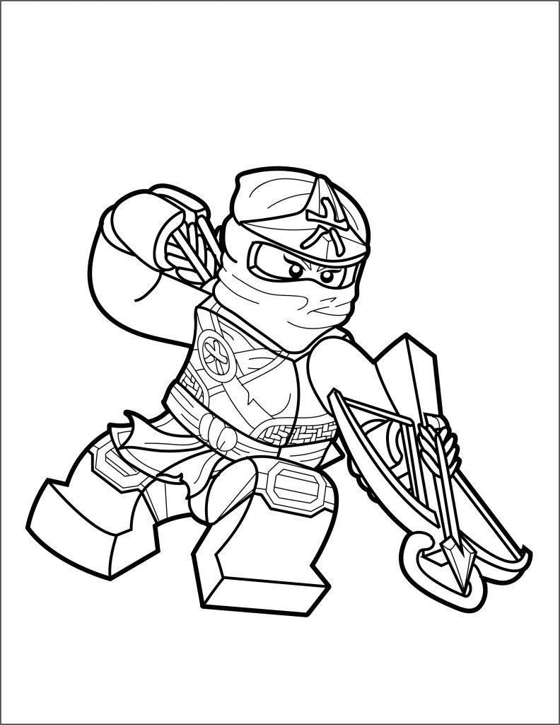lego ninjago coloring page skylor the brick show